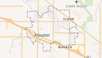 Atwater, California map