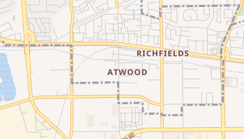 Atwood, California map