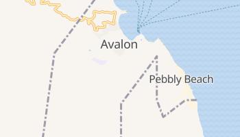 Avalon, California map