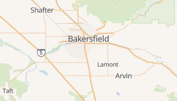 Bakersfield, California map