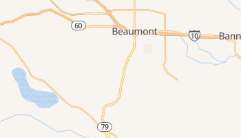 Beaumont, California map