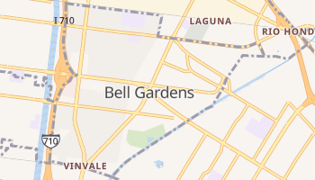 Bell Gardens, California map