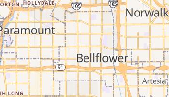 Bellflower, California map