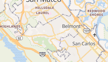 Belmont, California map