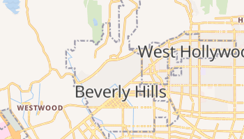 Beverly Hills, California map
