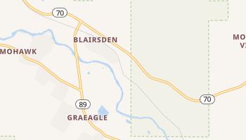 Blairsden, California map