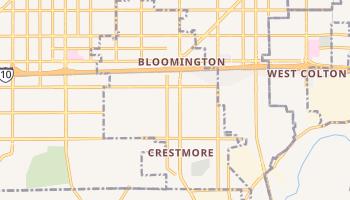 Bloomington, California map