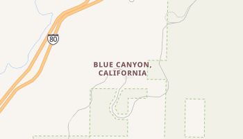 Blue Canyon, California map