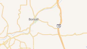 Bonsall, California map