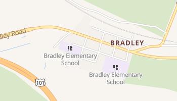 Bradley, California map