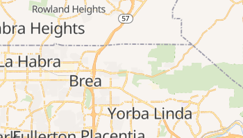 Brea, California map