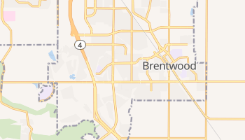 Brentwood, California map