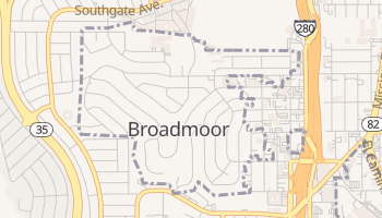 Broadmoor, California map