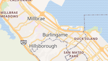 Burlingame, California map