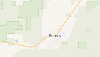 Burney, California map