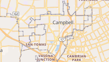 Campbell, California map