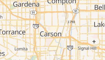 Carson, California map