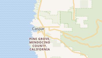 Caspar, California map