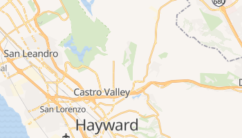 Castro Valley, California map