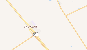 Chualar, California map