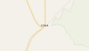 Cima, California map