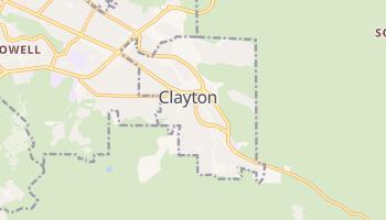Clayton, California map