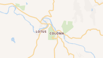 Coloma, California map