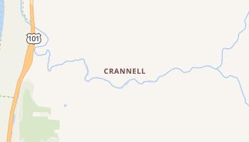 Crannell, California map