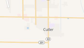 Cutler, California map