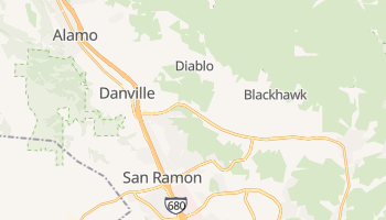 Danville, California map