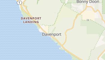 Davenport, California map
