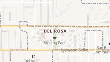 Del Rosa, California map