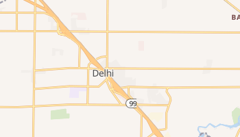 Delhi, California map