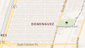 Dominguez, California map