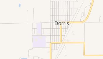 Dorris, California map