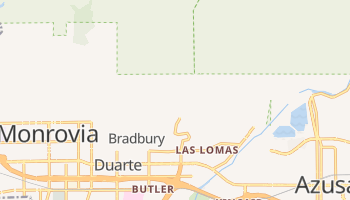 Duarte, California map