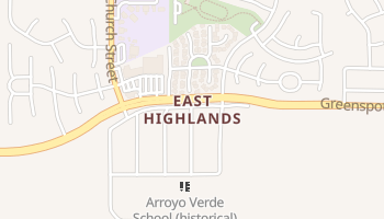 East Highlands, California map
