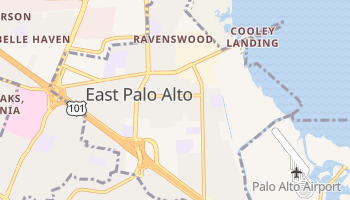 East Palo Alto, California map
