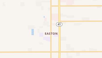 Easton, California map