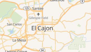 El Cajon, California map