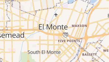 El Monte, California map