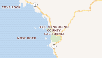 Elk, California map