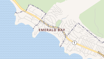 Emerald Bay, California map