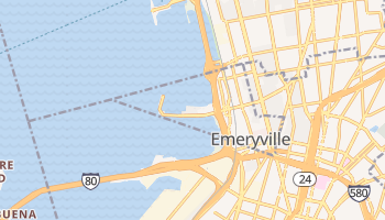 Emeryville, California map