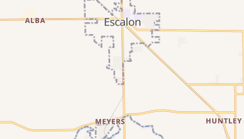 Escalon, California map