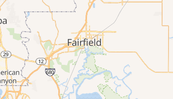 Fairfield, California map