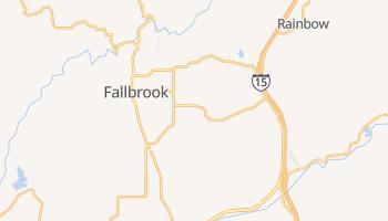 Fallbrook, California map