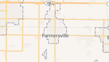 Farmersville, California map