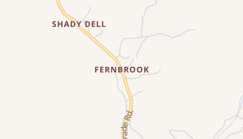 Fernbrook, California map