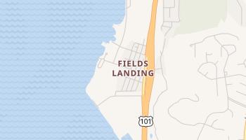 Fields Landing, California map